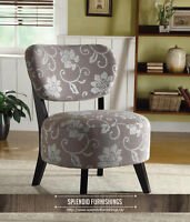 BRAND NEW!! BEAUTIFUL FLORAL PATTERN ACCENT CHAIR