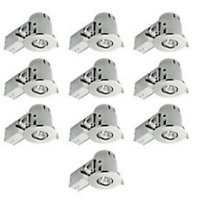 "4"" Recessed Lighting Combo Kit, Brushed Nickel (10-Pack)"