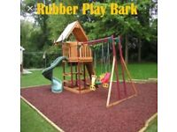 Garden chippings, rubber