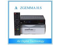 NEW ZGEMMA H.S DVB S2 Enigma2 Linux OS Satellite TV Box Receiver ( Free To Air )