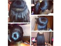 Brazilian knots from £65 Mobile hairdresser, weave-on, Brazilian hair extensions, tracks