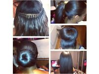 Brazilian knots from £65, Mobile hairdresser, weave-on, Brazilian hair extensions, tracks