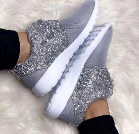 Glitter trainers Girls/Ladies