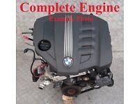 2012 BMW N47D20 Engine complete engine with flywheel
