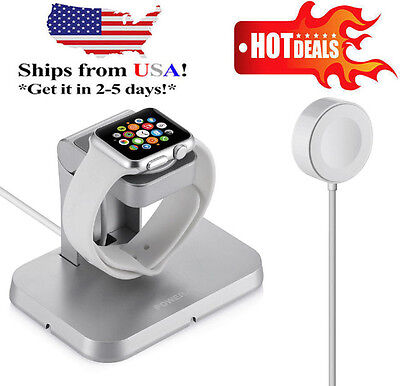 Magnetic Charger Charging Cable & Charge Stand For Apple Watch iWatch 38mm /42mm