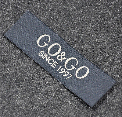 250pcs High Quality Damask Custom Personalized Clothing Sewing Labels U.S Seller