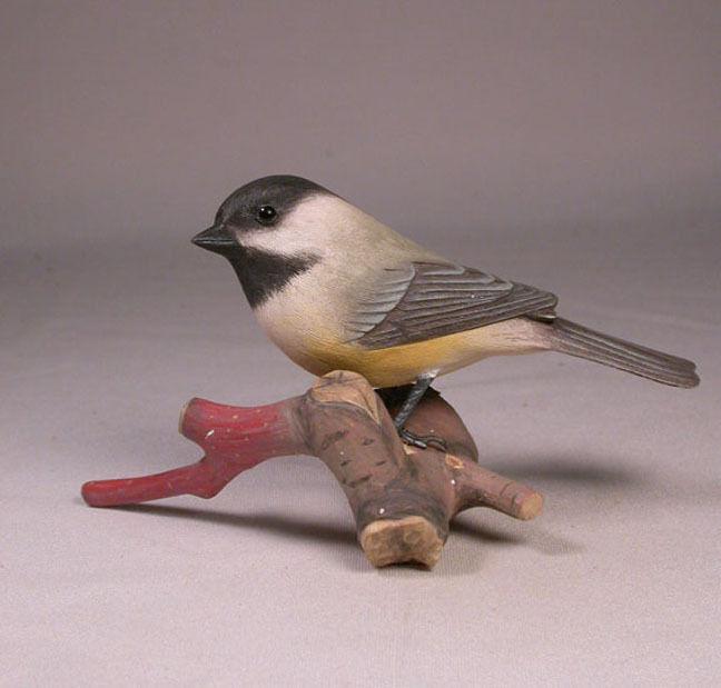 Original Carved Bird Black-capped Chickadee/Birdhug