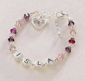 Any-Name-Girls-Personalised-Name-Bracelet-Childrens-jewellery-High-Quality