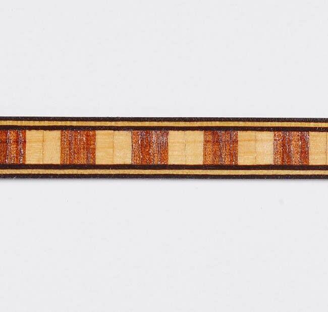 Lot of Five Medium Dental -- Buffard Frères Marquetry Banding Strips (Inlay-82)