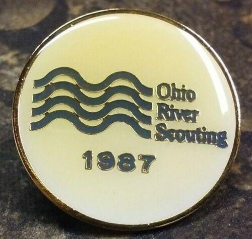 Ohio River Scouting 1987 pin badge