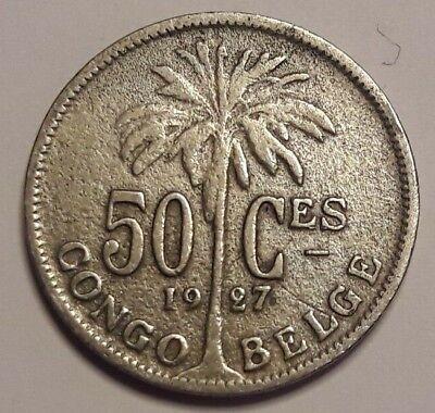 50 Centimes Centiemen  Belgisch CONGO  / Congo Belge 1927 FR
