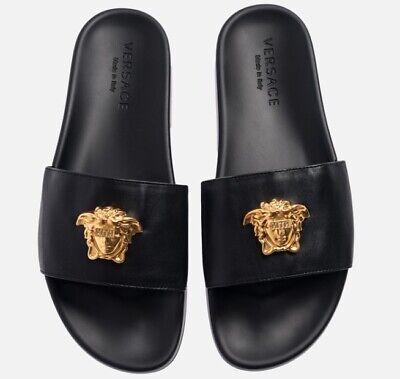 🌴PalmSpringsHypeBeast🌴 Kith x Versace Leather Slides Size 10