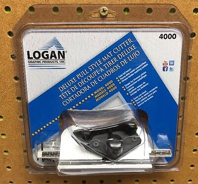 LOGAN Deluxe Pull Style Mat Cutter 4000 7 pc/pz, New