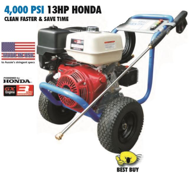 Aussie Pumps 4000PSI 13HP (Honda GX390) Pressure Washer | Other ...