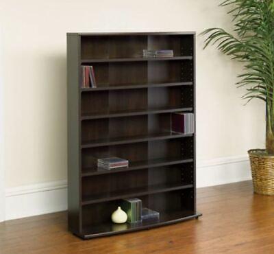 Cherry Dining Room Bookcase - Large Bookcase Adjustable Bookshelf Shelving Book DVD CD Game Storage 6-Shelf