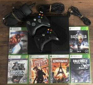 Xbox 360 Elite 500 GB With Two Wireless Controllers & 6 games
