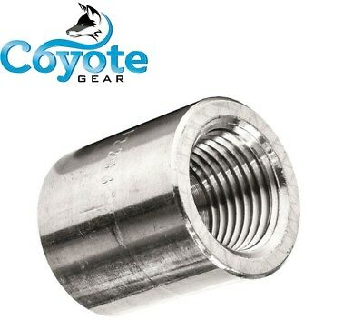 High Pressure 12 Npt 304 Forged Stainless Female Coupling 3000 Coyote Gear Ss