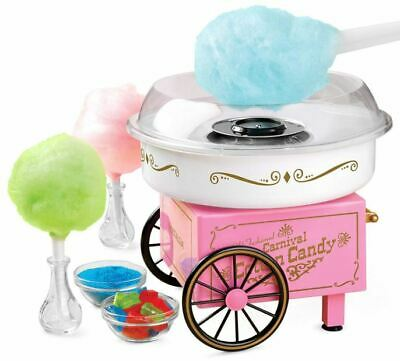 Retro Cotton Candy Machine Vintage Sugar Birthday Party Cart Cone Maker Tailgate