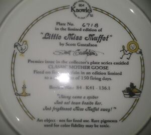 "Collector Plate: ""Little Miss Muffet"" Peterborough Peterborough Area image 2"