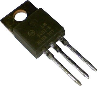 Lot Of 4 On Semi Voltage Regulator 5v 1a To220 Lm340t-5