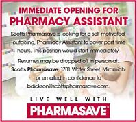 Part Time Pharmacy Assistant