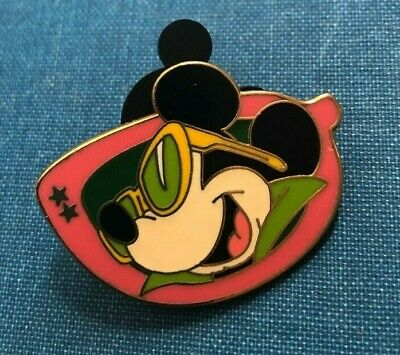 disney trade pin mickey mouse sunglasses vintage souvenir shades winter hipster