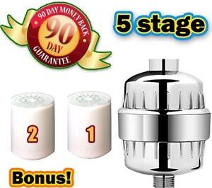 kaili universal shower filter kit u2013 5 stage micro water filtration