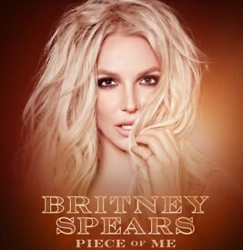 2x Floor Seated Britney Spears Tickets O2 London 26/08/18 ***FACE VALUE***