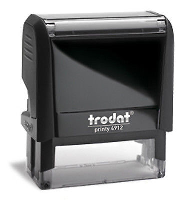 Custom Trodat 4912 Ideal 80 Self-inking 4 Line Office Return Address Stamp