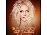 2x Floor Seating Britney Spears Tickets London 26/08/18 *FACE VALUE*