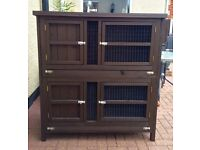 4ft Double Hutch