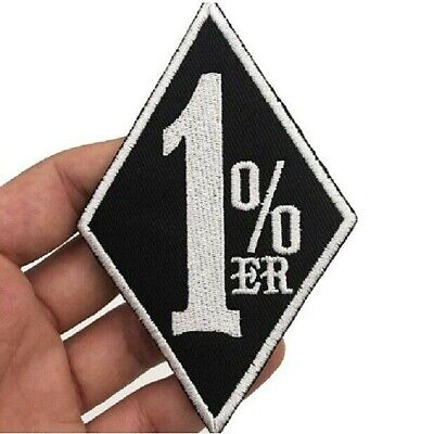 """Biker Vest Reflective MADE IN USA 4/"""" x 1/"""" iron on patch A18 3781"""