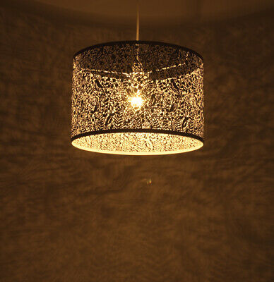 LARGE PENDANT NON-ELECTRIC IN ANTIQUE BRASS - 400MM - GARDENIA by N.L.