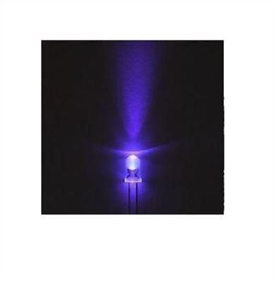 500pcs Ultra Violet Led F3 3mm Round 395-400nm Uv Light Purple Lamp New Ic Mg