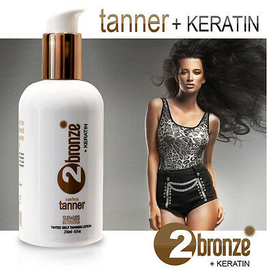 Rejuvenating Self Tanning Lotion 2bronze with Keratin | Best Sunless Self-Tanner