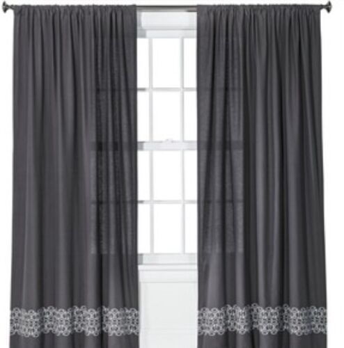 Curtains Ideas batik curtain panels : New Target Nate Berkus Gray Batik Curtain Panel 54x84 In Package