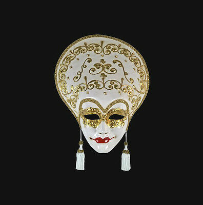 Mask from Venice Volto Liberty White Cream and Gold - Mask Venetian 438