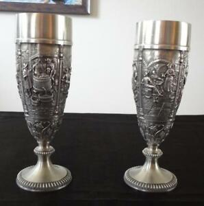 Pewter Wine Flutes