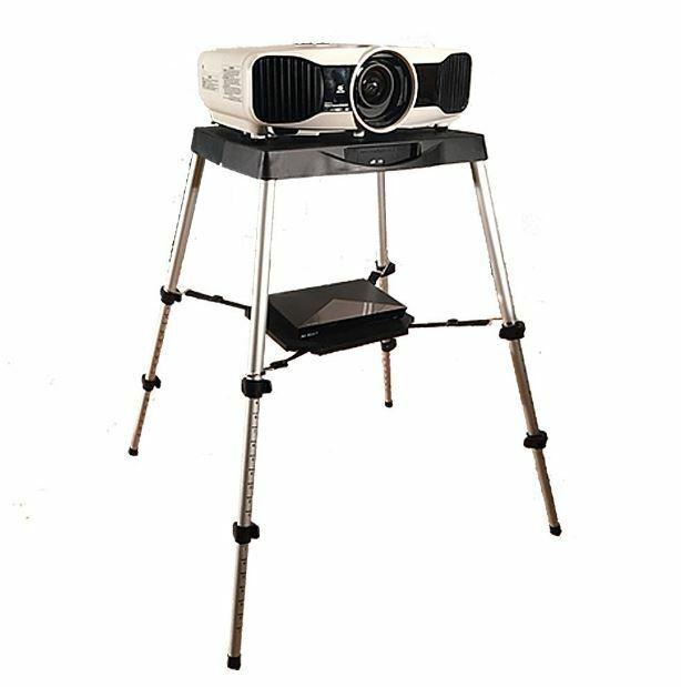 Portable Projector Stand Table Outdoor Yard Movie Presentati