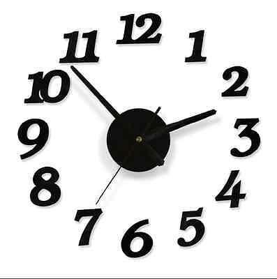 Creative Modern DIY Wall Clock 3D Sticker ...