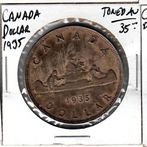 Canada Dollar 1935 Toned AU