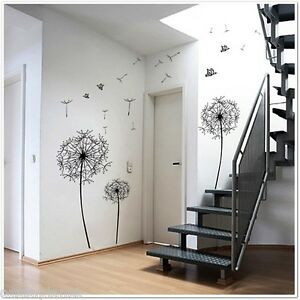 Dandelion Flowers Wall Stickers Mural Decals Art Decor
