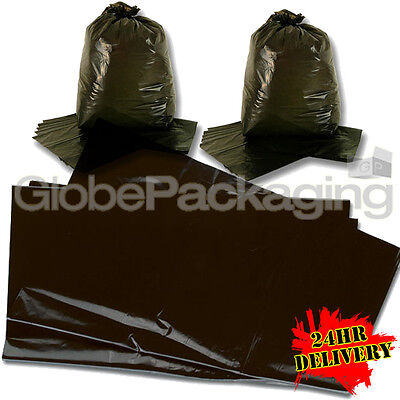 200 LARGE BLACK REFUSE SACKS BAGS 18x29x39