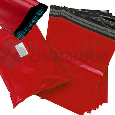50x RED Mailing Postal Postage Mail Bags 7