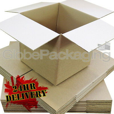 50 x MAILING GIFT POSTAL S/W CARDBOARD BOXES 7x5x5