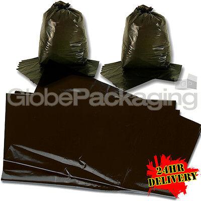 100 STRONG HEAVY DUTY BLACK REFUSE SACKS BAGS 18x29x39