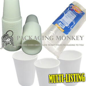 WHITE-CLEAR-PLASTIC-FOAM-7oz-CUPS-ALL-TYPES-QTYS