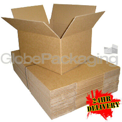 500 x HIGH GRADE 12X9X4 A4 S/W CARDBOARD MAILING POSTAL BOXES 12