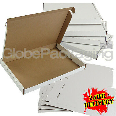 50 x WHITE C5 SIZE PIP LARGE LETTER CARDBOARD POSTAL MAIL BOXES 222x160x20mm