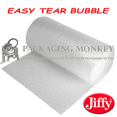 750mm x 100M ROLL OF EASY TEAR JIFFY BUBBLE WRAP *TEARS IN STRAIGHT LINE*